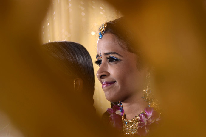A candid wedding photograph from Subha's wedding album