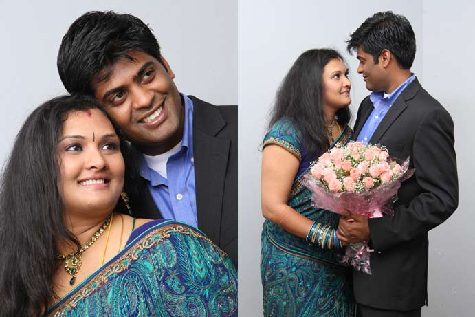 A candid wedding photograph from krithika's wedding album
