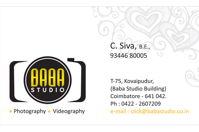 Baba studio coimbatore.contact us info